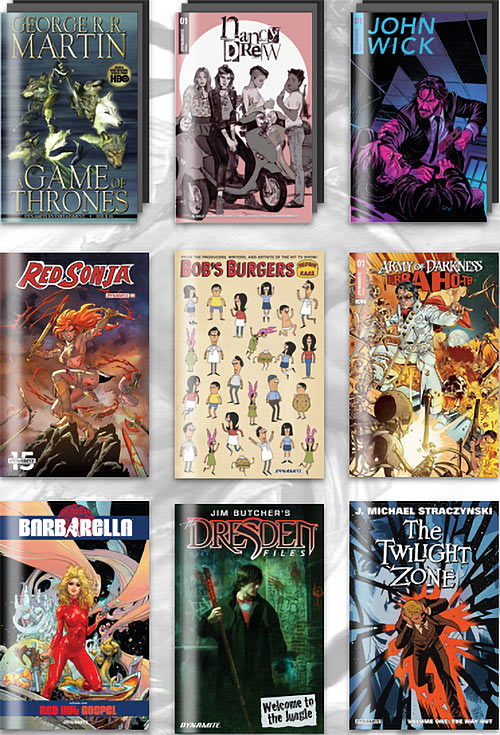 Best of Dynamite Comics Humble Bundle grid